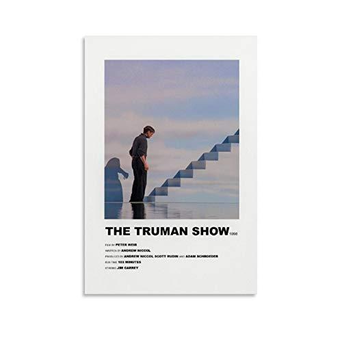 Guoting, poster vintage con film Truman Show su tela di canapa, poster per ufficio, famiglia, camera da letto, decorazione da parete