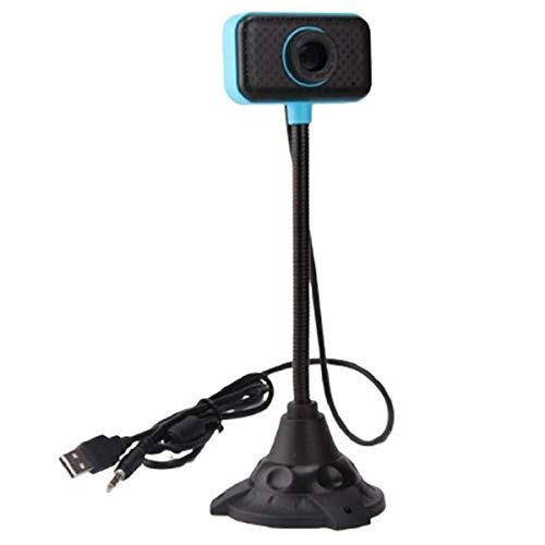 Package Includes: 1 x Tricep Rope USB Web Camera Webcam with Mic, for Computer PC Laptop Desktop Blue Black 2.0 Driver-Free Blue Black