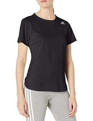 adidas Camiseta de entrenamiento con 3 rayas Heat.RDY - GUZ76, playera de entrenamiento con 3 rayas Heat., Medium, Negro