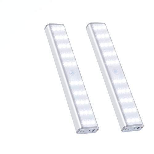 Vikano 20 luces LED para clóset, recargables, 3 modos de color, inalámbricas, funciona con pilas, para cocina, escalera, pasillo, bajo encimera