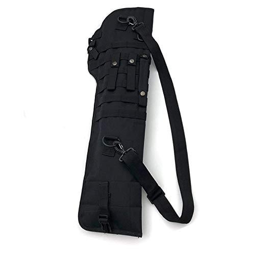 LiQinKeJi8 Cómodo Bolsa de Pistola táctica Caja Militar Rifle Mochila Sniper Carbine Airsoft Holster Shooting Portable Hunting Accesorios Nylon Bag Herramienta de Funda (Color : Black Color)
