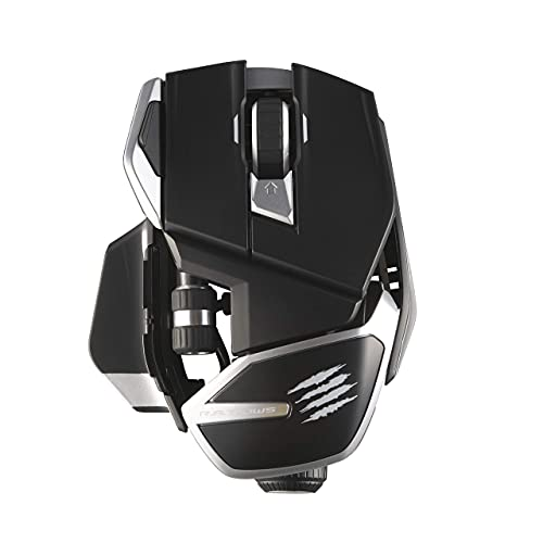 Mad Catz The R.A.T. DWS Bluetooth Wireless Gaming Mouse Dual Mode: Bluetooth 5.0 and 2.4G Wireless -16000 DPI PAW3335DB Optical Sensor (Renewed)