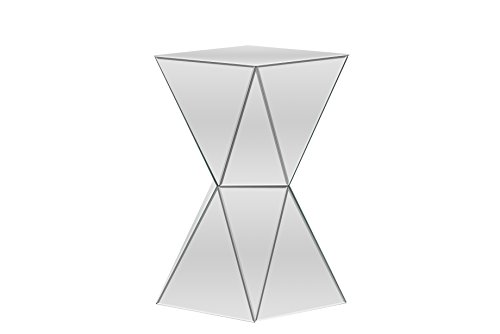 Baxton Studio Rebecca Contemporary Multi-Faceted Mirrored Side Table