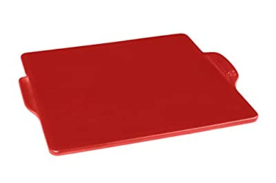 Emile Henry Square, Burgundy pizza stone, 14 in. x 14