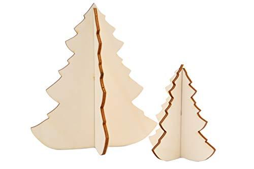 Tannenbaum Set aus Holz, Holzdeko, Weihnachtsdeko, Weihnachtsbaum