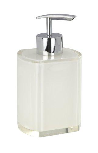 Wenko 20009100 Seifenspender Lido weiß - Polyresin, 300 ml, 8 x 14.8 x 6.9 cm