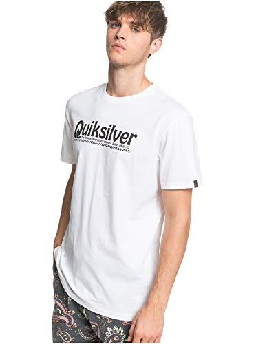 Quiksilver New Slang - Camiseta para Hombre Screen tee, Hombre, White, L