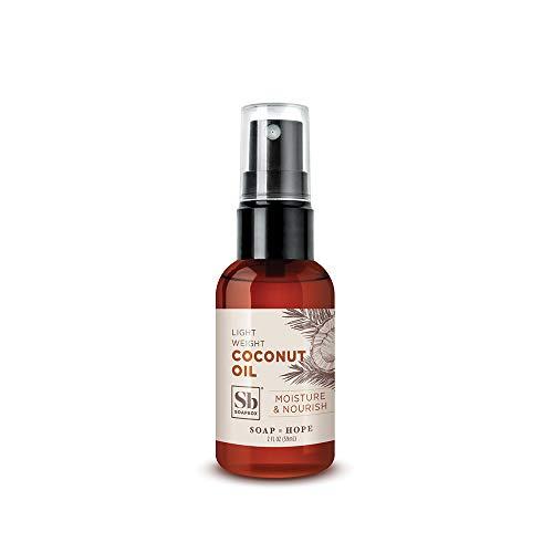 Soapbox Coconut Oil Spray, Hair Oil Spray for Hair, Scalp, Skin, and Face, Strengthening and Replenishing Hair Oil, 2 Ounces