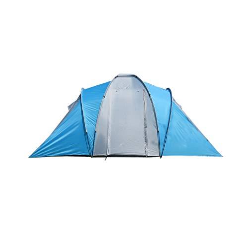LI MING SHOP-Tents tentes extérieur extérieur Tente Camping Randonnée Tente de Camping Double Tente Double Quel Vélo Trois Saisons Tente étanche Crème Solaire Tente + + Bleu