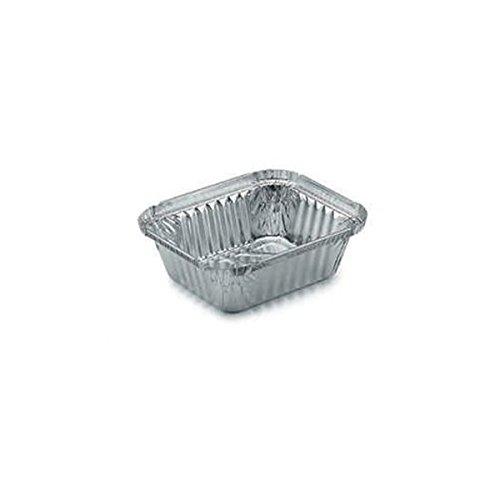 ICONT - Vaschette In Alluminio R128L Con Coperchio 1 Porzione
