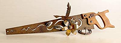 Metal Art Hummingbird and flowers design Hand (plasma) cut handsaw | Wall Decor | Garden Art | Recycled Art | Made to Order for bird lovers! from