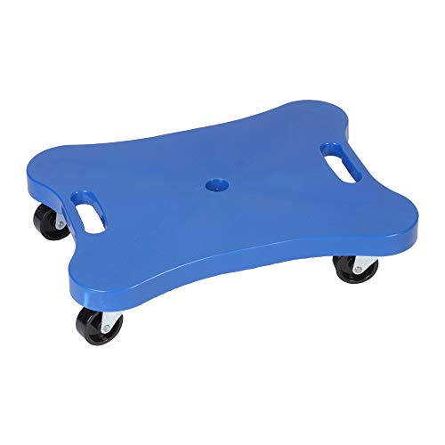 Champion Sports - CHSPGH1216 Plastic Scooter Board with Contoured Handles, Blue