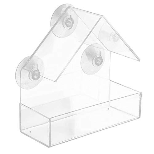 Hahuha Acrylfenster mit starkem Saugnapf Birdhouse Feed Bird Pet Feeder Klare Schreibkorrektur, Heim-, Büro- und Schulbedarf