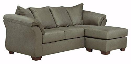 Ashley Furniture Signature Design - Darcy Contemporary Microfiber Sofa Chaise -...