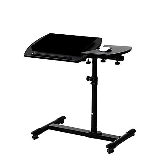 Lixiabeidai Ajustable en Altura Soporte para portátil también para los Zurdos Sofá Mesa Lateral Escritorio del Ordenador portátil,Black