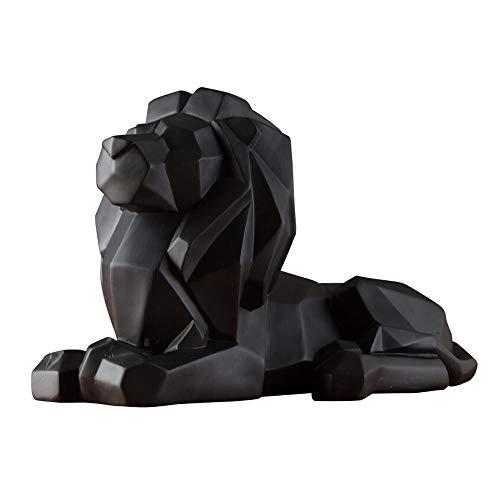 huawi 8.1-inch high Geometric Resin Lion Sculpture Animal Statue