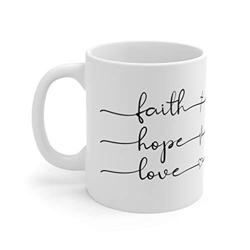 Taza de café divertida con frase de la Biblia, para los amantes del café, regalo minimalista para ella, regalo para él, regalo para mamá, papá, conmemoración, taza de cerámica de 11 onzas
