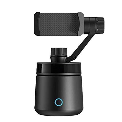 Jaimenalin Estabilizador Inteligente Gimbal Estabilizador Seguidor Reconocimiento Facial Interfaz USB Dual para Youtube Creador de Video (Negro)