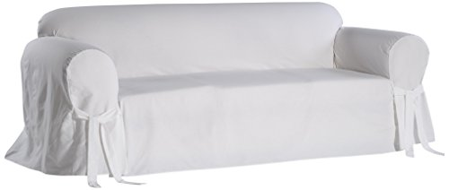 Classic Slipcovers BT10RASLWHT Solid Twill Slipcover, Sofa, White