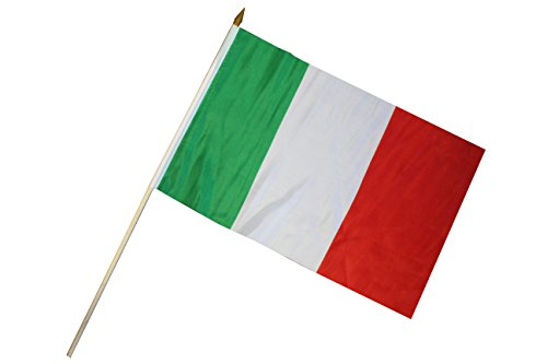 Creation Gross Fahne Flagge Italien 30 x 45 cm mit Holzstab Höhe 61 cm (2er Set) (0520304)