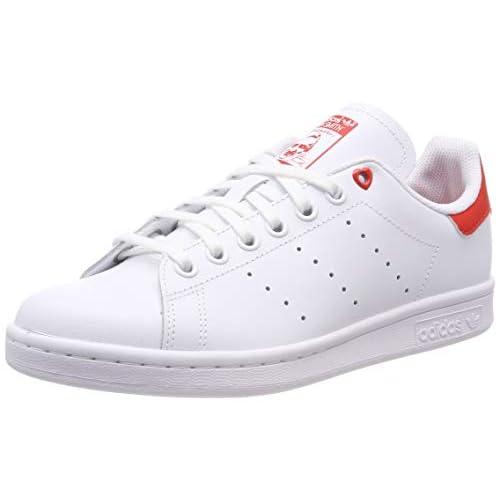 adidas Stan Smith J, Scarpe da Ginnastica Basse Unisex-Bambini, Bianco (White G27631), 36 EU