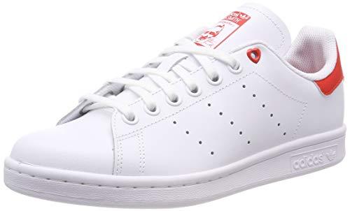 adidas Stan Smith J, Scarpe da Ginnastica Basse Unisex-Bambini, Bianco (White G27631), 38 2/3 EU