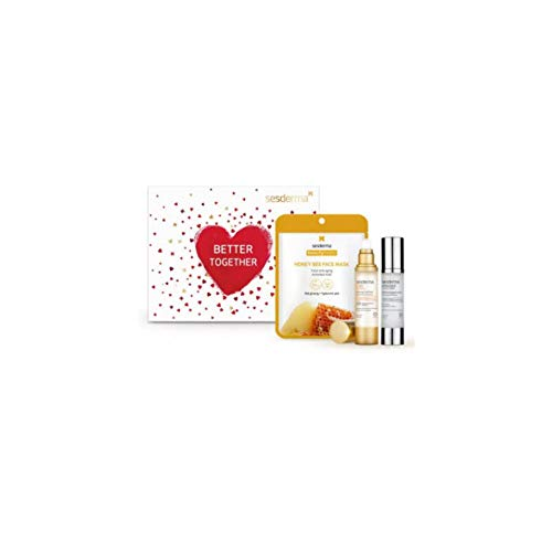 Sesderma PACK C VIT Radiance Fluido Luminoso, 50ml+Acglicolic Classic Forte, 50ml+Máscara Honey Bee Mask, 22ml MEJOR JUNTOS