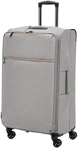 AmazonBasics Belltown, Softside Expandable Luggage Spinner Suitcase with Wheels, 31 Inch, Grey