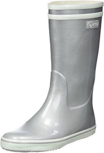 Aigle Damen Malouine Bt Gummistiefel, Silber Silver, 38 EU
