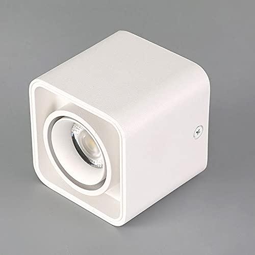 ZWDEDIAN Opbouw Vierkante Plafondlamp Duurzame Plafondlamp De Aluminio Industriële Stijl Licht COB Decoratieve Verlichting LED-plafondlamp Voor Woonkamer Gangpadwinkel