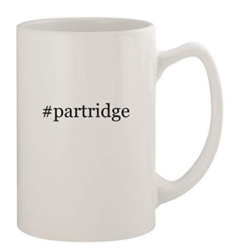 #partridge - 14oz Ceramic White Statesman Coffee Mug, White