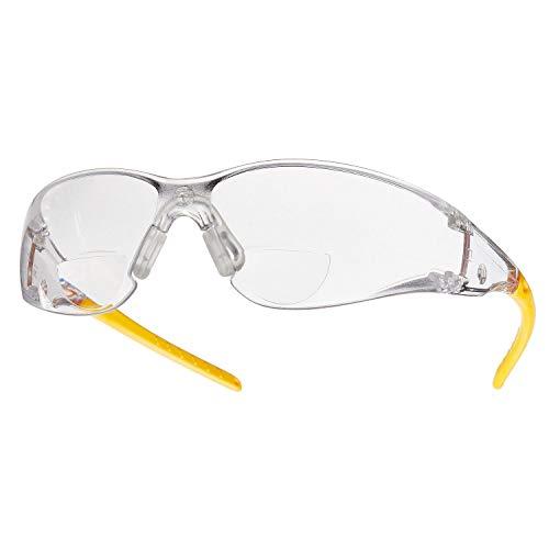 Schutzbrille mit Sehstärke Arbeitsschutzbrille Dioptrien von 1,0 bis 3,0 klare Scheibe, Kratzfest (Dioptrien +2,5)