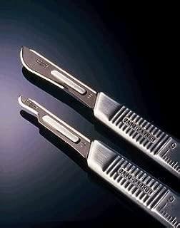 BD 371111 Bard-Parker Sterile BD Rib-Back Carbon Steel Scalpel Blades, No. 11, BD Medical - Pack of 50