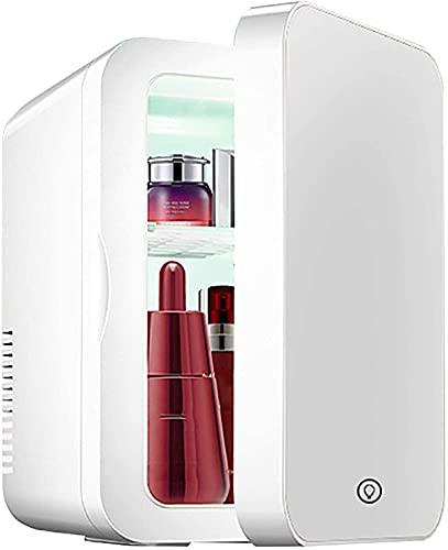 Mini Refrigerador 8L Belleza Portátil Mini refrigerador personal, refrigerador de espejo de maquillaje, con iluminación LED, 2 en 1 Refrigerador de maquillaje para dormitorio / dormitorio / de coche /