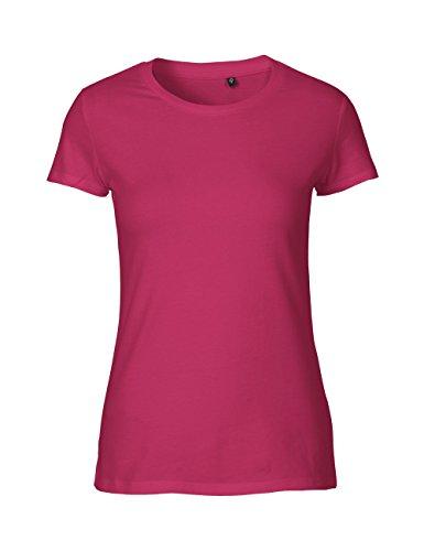 Green Cat Ladies Fitted T-Shirt, 100% Bio-Baumwolle. Fairtrade, Oeko-Tex und Ecolabel Zertifiziert, Textilfarbe: pink, Gr.: L