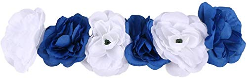 Plztou Halloween Headbands, Artificial Flower Hair Band Rose Hair Hoops Flower Crown Headband Rose Headdress for Christmas Halloween (Color : As Shown2)