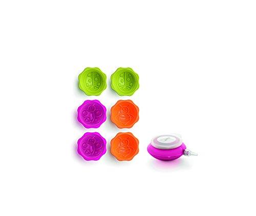 Lékué 0240707SURM017 Kit Déco Mini Cake Set Garden Silicone Platine