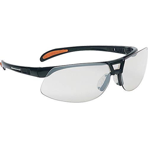 Honeywell 1015364 Protege Floating Lens Eyewear Metallic Black Frame with Clear Fogban/Anti-Scratch Lens