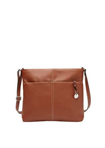 s.Oliver Damen City Bag mit Kontrastnähten brown 1