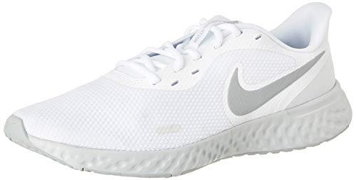 Nike Revolution 5, Zapatilla de Correr Hombre, Platino Blanco Lobo Gris Pursho, 41 EU