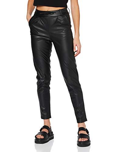 ONLY Damen ONLPOPTRASH Faux Leather Pant PNT Hose, Black, L/32
