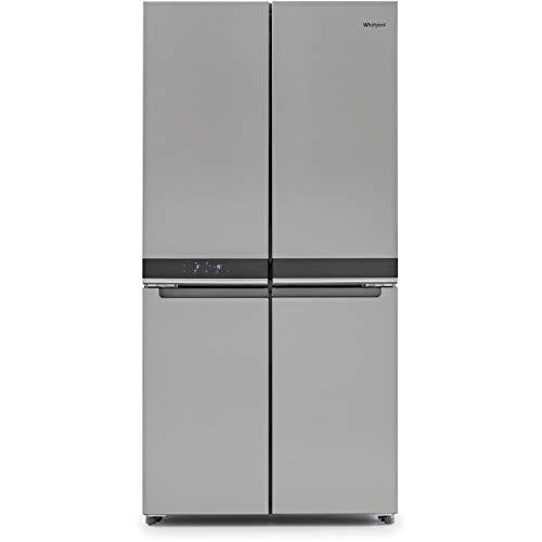 Whirlpool WQ9B1LUK Freestanding Fridge Freezer, Frost Free, 591L total capacity, 90cm wide, Stainless Steel