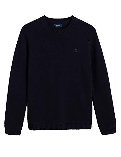 GANT Jersey Shetland Grueso Azul Marino M