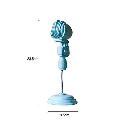 Foanwm Adornos de micrófono Vintage Resina Artesanía Decoración Figuras Accesorios de Decoración del Hogar Artesanía Moderna