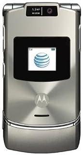 Motorola RAZR V3xx Platinum No Contract AT&T Cell Phone