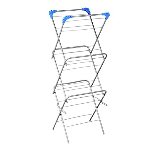La Bolata - Tendedero de Metal con 3 Alturas para secar la Colada de 129 x 47 x 44 cm. Tendal para Secado de Ropa, válido para Interior o Exterior. Estructura de Metal para Colgar Ropa mojada.