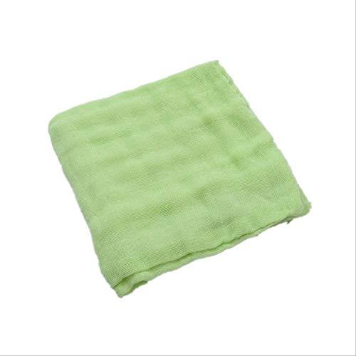 4 unids/Lote Pañuelo de bebé Cuadrado Toalla de Cara de bebé 28x28cm Toalla de Cara de algodón Infantil de Muselina Toallita de un tamaño Verde