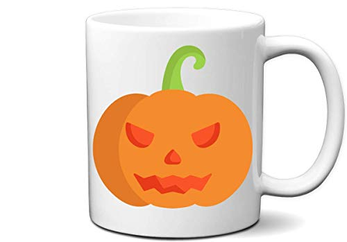Taza De Ceramica Jack O Lantern Halloween Pumpkin Face Ideal Para Fiestas De Disfraces De Halloween, Amantes De La Calabaza Y Todo El Mundo Taza De Café Personalizada Taza De Cerám