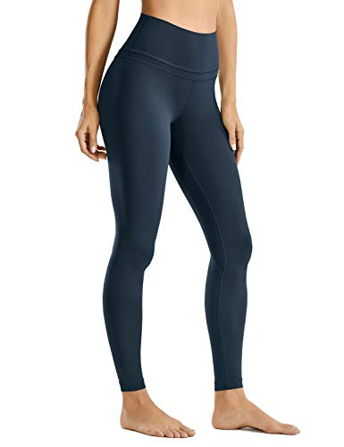 CRZ YOGA Donna Vita Alta Pantaloni Sportivi Leggings Fitness con Tasche-71cm True Navy 42
