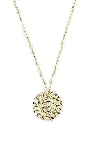 C&R SELECTION I Damen Halskette mit runden Plättchen in Gold, Edelstahl Kette vergoldet, Gold Coins kette, goldene kette Damen I Hochwertige Geschenkverpackung